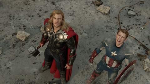 Thor y Capitán América.