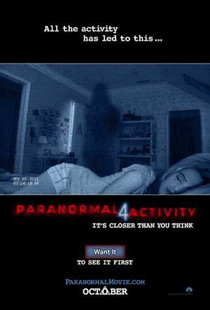 Paranormal Activity en Facebook.