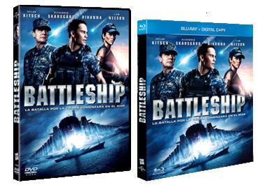 Battleship. Carátulas DVD y Blu-ray.