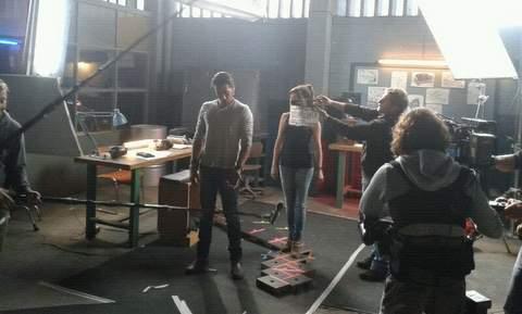 Imagen del rodaje de Combustión.