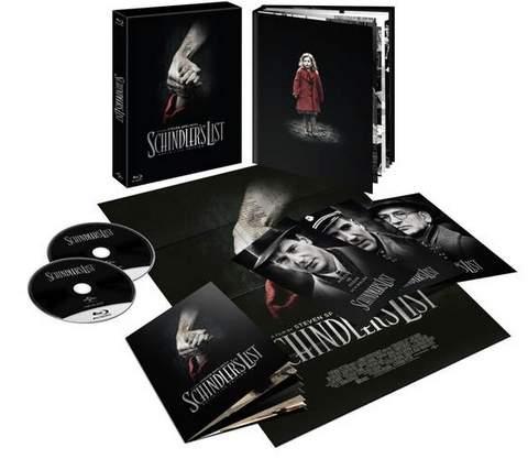 'La lista de Schindler', carátulas Blu-ray.