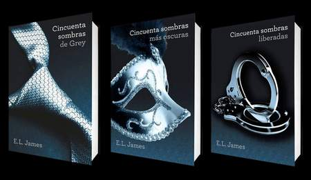 """""""50 Sombras de Grey"""", trilogía literaria."""