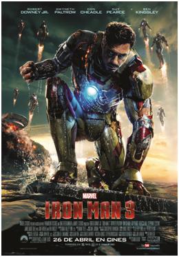 "Póster de ""Iron Man 3""."