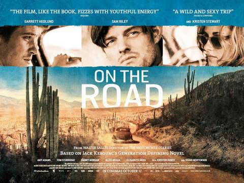 """""""On the road"""", banner."""