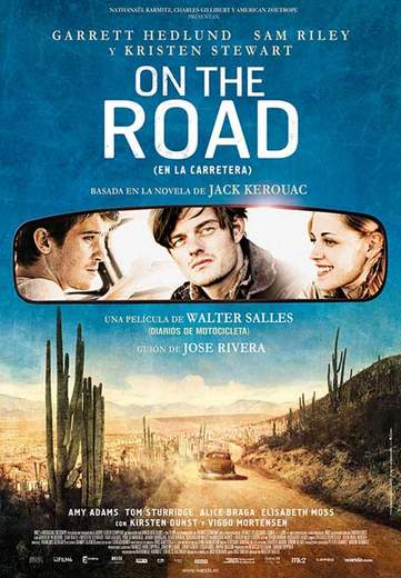 "Póster de ""On the road""."