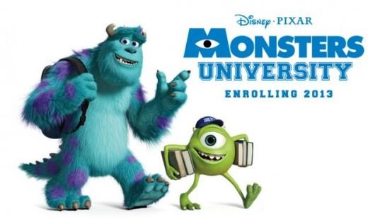 "Banner ""Monstruos University""."