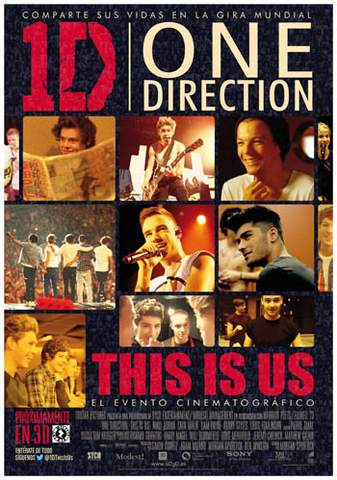 """Póster """"One Direction: This is us""""."""