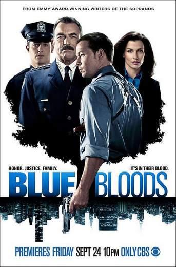 """Póster de la serie de TV """"Blue Bloods""""."""