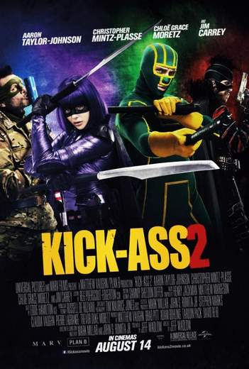 """Póster de """"Kick-Ass 2: Con un par""""."""