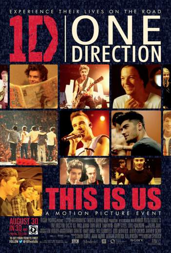 """Póster de """"One Direction: This is us""""."""