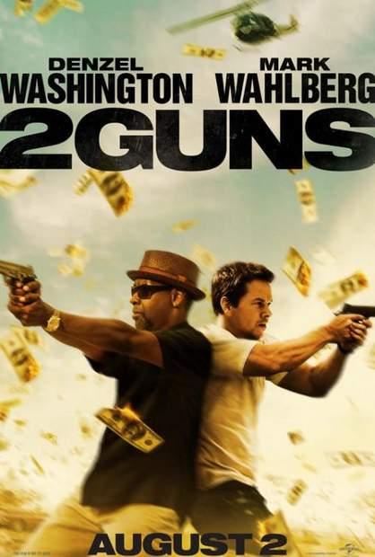 """Póster de """"2 Guns""""."""