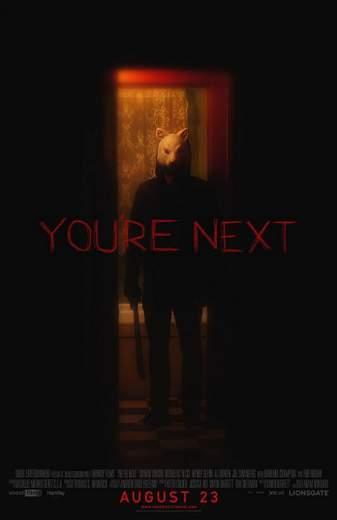 """Póster de """"Tu eres el siguiente"""", estreno."""