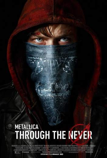 """Póster de """"Metallica 3D: Through the Never""""."""