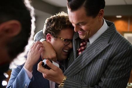 Leonardo DiCaprio y Jonah Hill en El Lobo de Wall Street