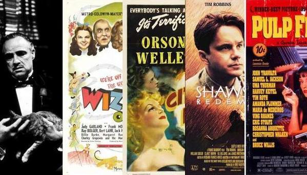 Las 100 mejores películas de la historia según Hollywood