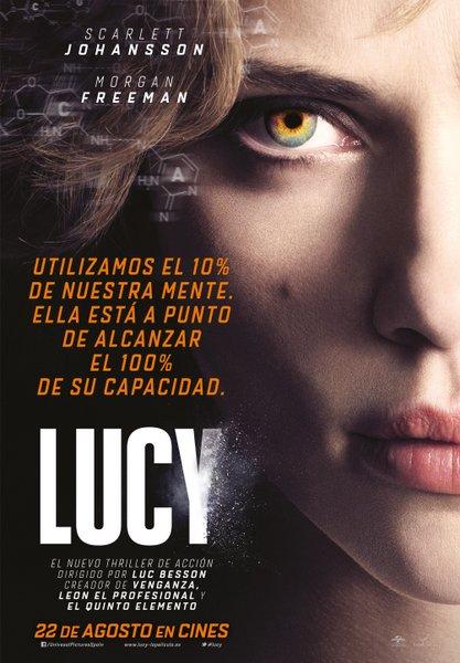 Póster español y camiseta de Lucy