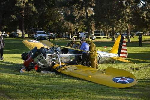Harrison Ford herido en accidente avioneta