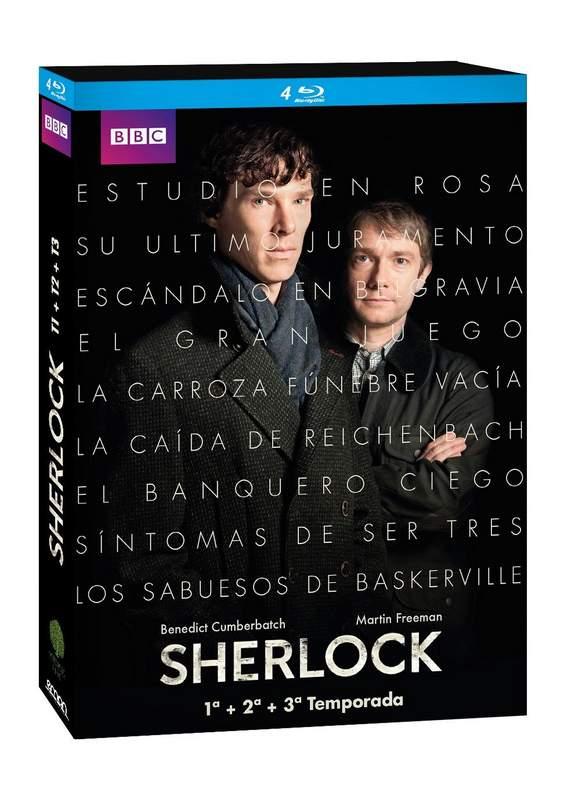 Pcka blu-ray de las tres temporadas de Sherlock