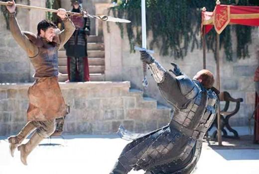 Juicio combate a muerte de la serie de TV Juego de tronos