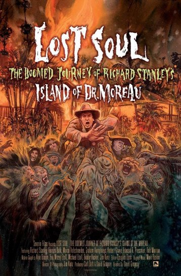 Póster de Lost Soul: El viaje maldito de Richard Stanley a la isla del Doctor Moreau