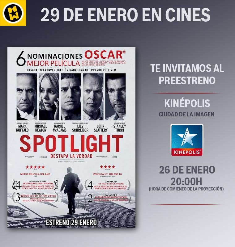Concurso Preestreno de Spotlight
