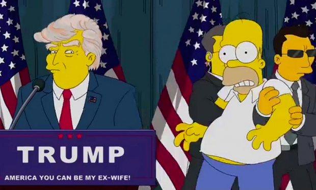 Victoria de Donald Trump en Los Simpson