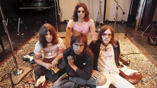 LOS ANGELES - MAY 23:  Iggy  the Stooges (L-R Dave Alexander, Iggy Pop in front, Scott Asheton in back and Ron Asheton) pose for a portrait at Elektra Sound Recorders while making their second album 'Fun House' on May 23, 1970 in Los Angeles, California. (Photo by Ed Caraeff/Getty Images)
